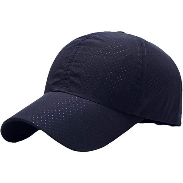 帽子 ジョギング用キャップ メッシュ 吸湿速乾 ランニングキャップ 6カラー(ブラック, Free Size)