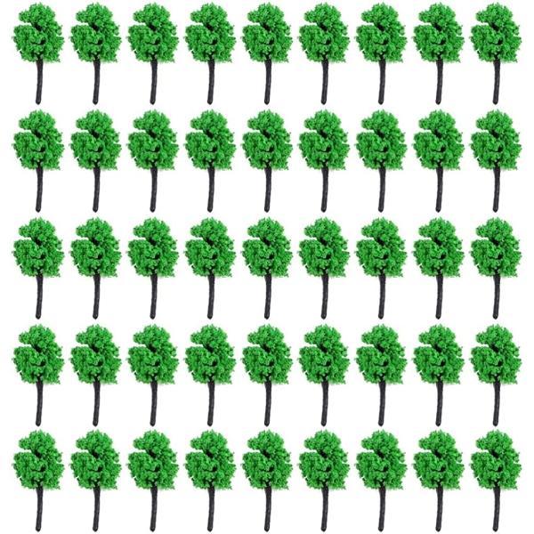 森林Nゲージジオラマ鉄道建築模型用樹木風景3.5cm50本萌黄(3.5cm,50本,萌黄)