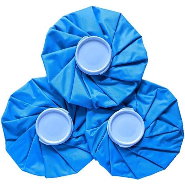 アイスバッグ 3個セット アイシング 氷のう スポーツ 発熱 熱中症対策 冷却グッズ クールダウン 9インチ ブルー(9インチ ブルー)