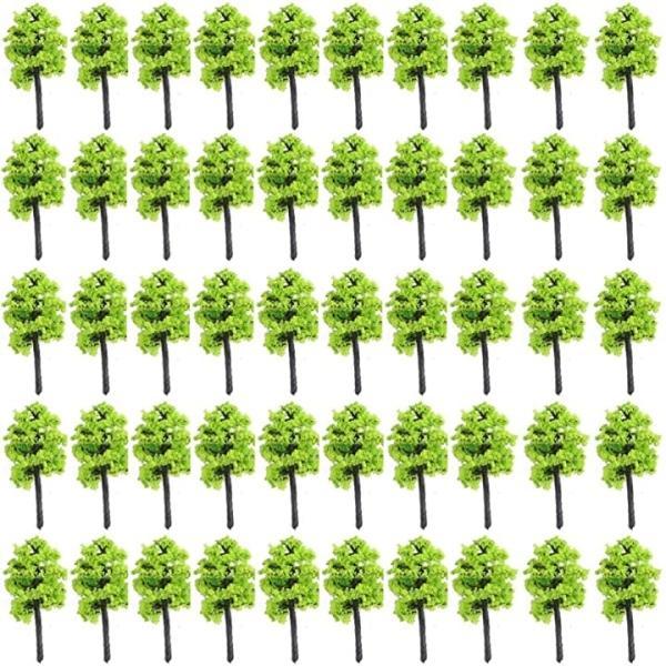 森林Nゲージジオラマ鉄道建築模型用樹木風景3.5cm50本若草(3.5cm,50本,若草)