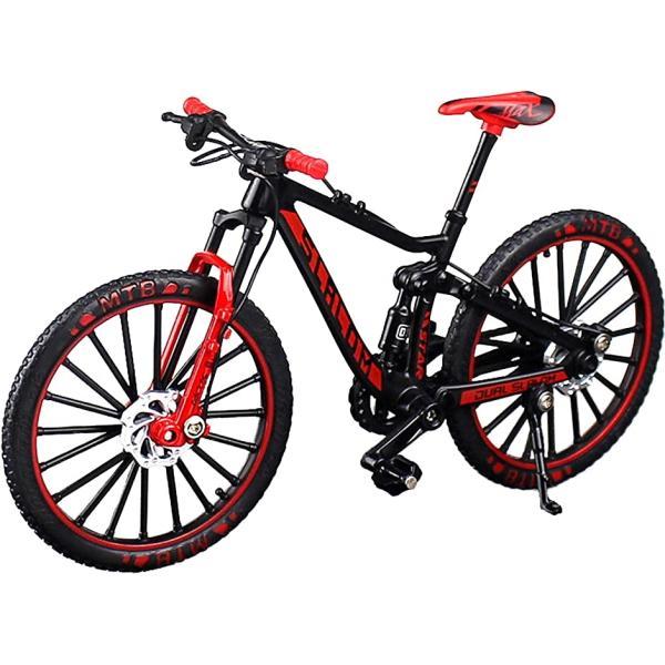 自転車 おもちゃ 玩具 ハンドル 3色 MTB マウンテンバイク 模型 1/10(レッド)