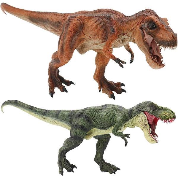 AINetJP恐竜リアルフィギュア模型自立口開閉おもちゃプレゼントティラノサウルス(ティラノサウルス2種セット)