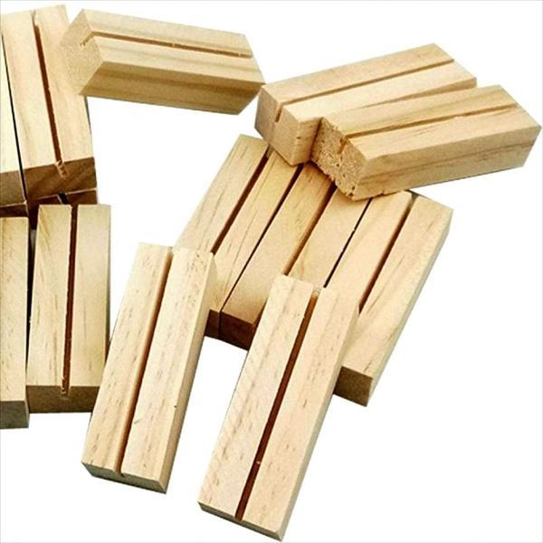 メモスタンド 10個 クリップ ミニ 木製 写真立て 席札 名刺 結婚式 卓上 小物 装飾 メモホルダー(長方形, 長方形)