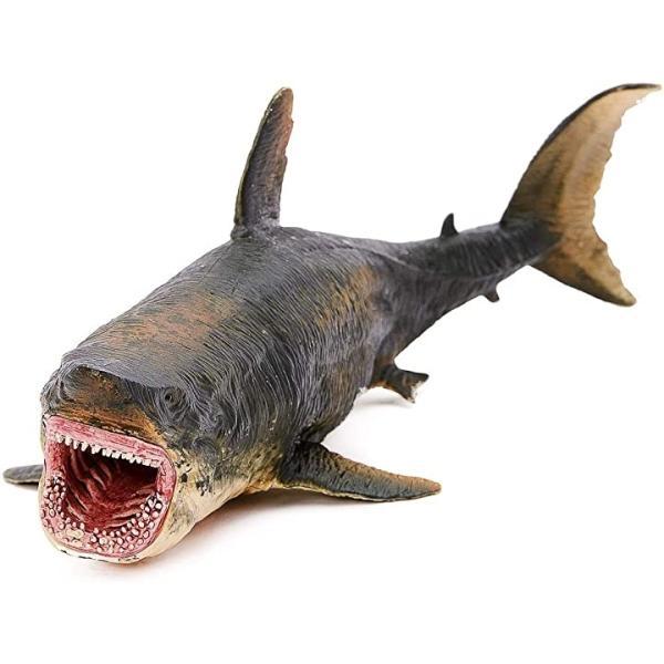 メガロドンリアルフィギュア海洋動物古生物サメPVCおもちゃ