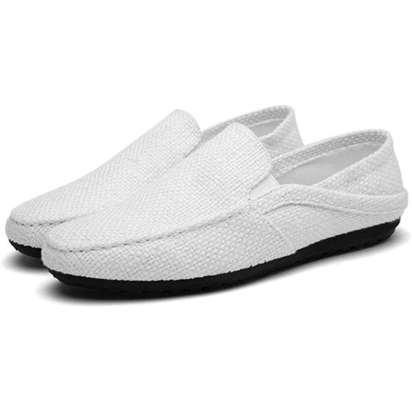 トーアソーア スリッポン メンズ スニーカー かかとなし 軽量 通気性 40-25.0cm, 白(ホワイト, 25.0 cm)