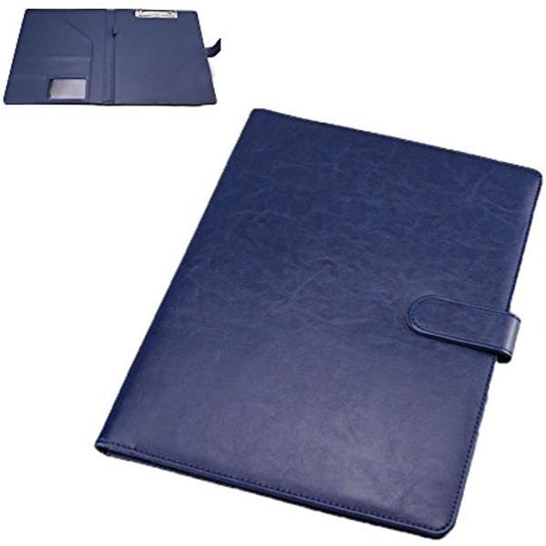 クリップボード ファイルホルダー 見開き A4 書類ホルダー バインダー オフィス用品(blue)