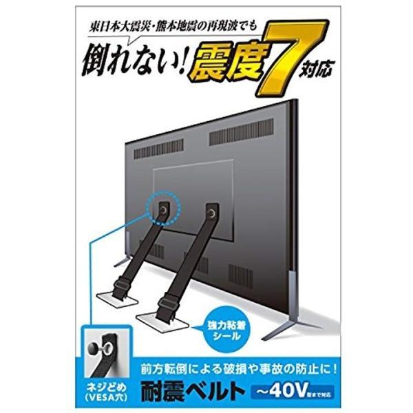 ELECOM 耐震ベルト テレビ用 40インチまで対応 ネジどめタイプ TS-005N [(対応インチ) 〜40インチまで]