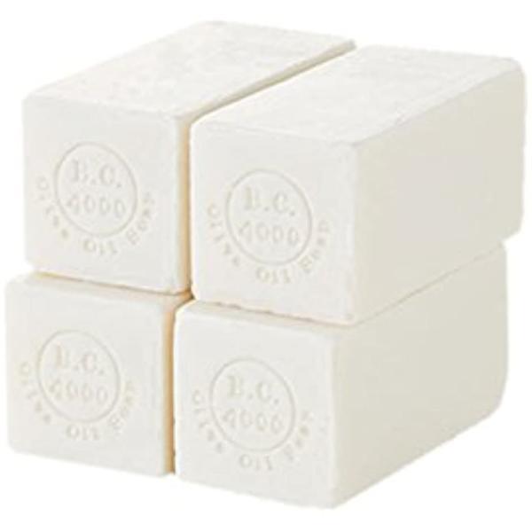 100% バージンオリーブオイル石鹸 オーガニック せっけん 50g 4個入 MDM(ネット無し, 50g x 4個)