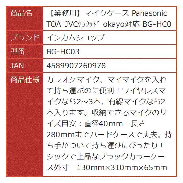 業務用マイクケース Panasonic TOA JVCケンウッド okayo対応[BG-HC03]