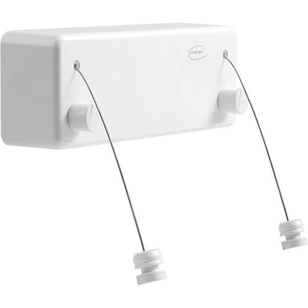 室内物干し 耐荷重30KG 物干しワイヤー ダブルロープ 全長4.2M 自由伸縮可能 防水 MDM(白色, ダブルロープ (耐荷重30KG ))