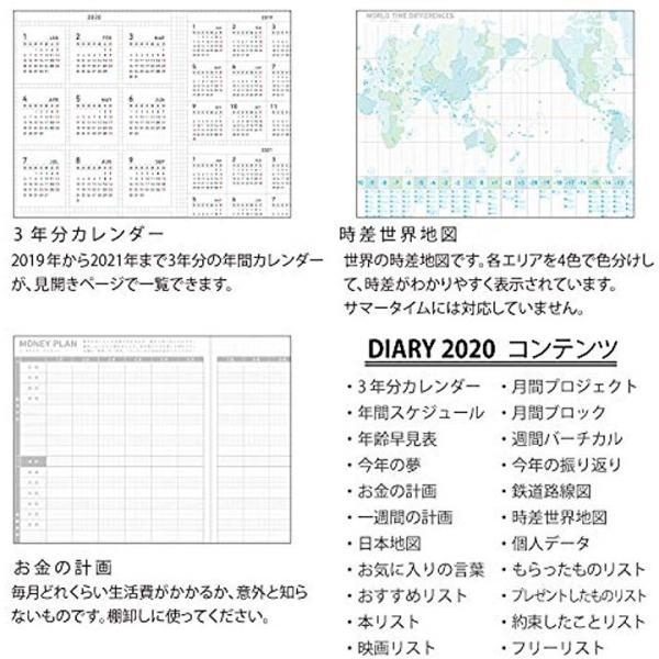 ジブン手帳 DIARY 2020年 スリム マンスリー&ウィークリー ライトピンク[ニ-JCD2LP-20](A5・ライトピンク, A5)|horikku|07