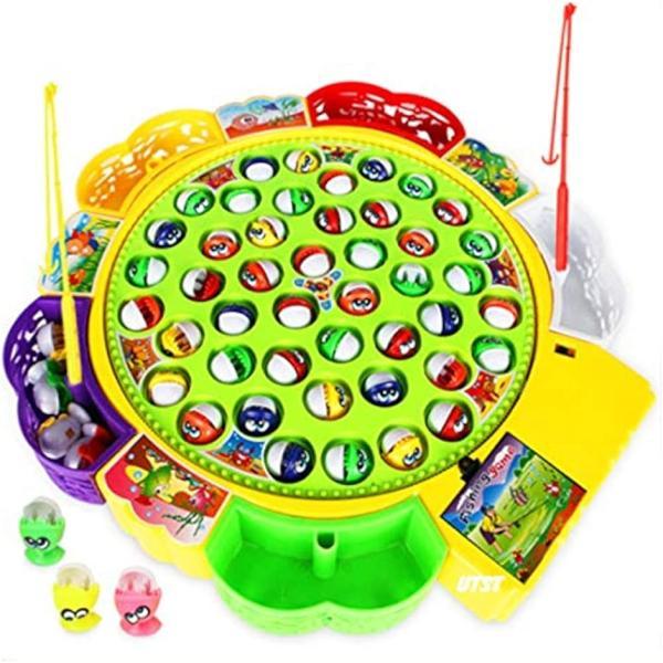 電動 釣り ゲーム おもちゃ くるくる 回転 おもしろ フィッシング お魚 つり パクパク 子供用 景品 誕生日 プレゼント に(L)