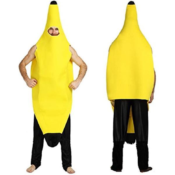 バナナ 着ぐるみ コスプレ 大人用 おもしろコスチューム M-Lサイズ(黄L)|horikku