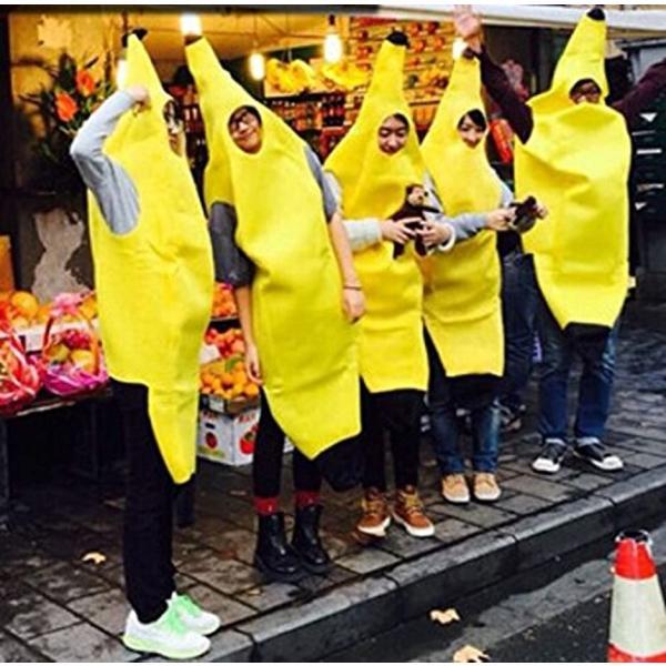 バナナ 着ぐるみ コスプレ 大人用 おもしろコスチューム M-Lサイズ(黄L)|horikku|02
