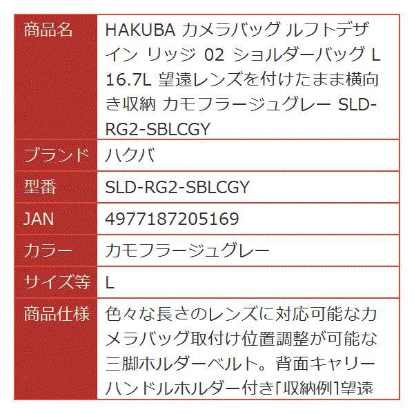 HAKUBA カメラバッグ ルフトデザイン リッジ 02 ショルダーバッグ[SLD-RG2-SBLCGY](カモフラージュグレー, L)|horikku|09