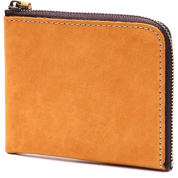 STCRAFT薄い財布L字ファスナーコンパクト大容量メンズギフトBOX付き(イエロー)