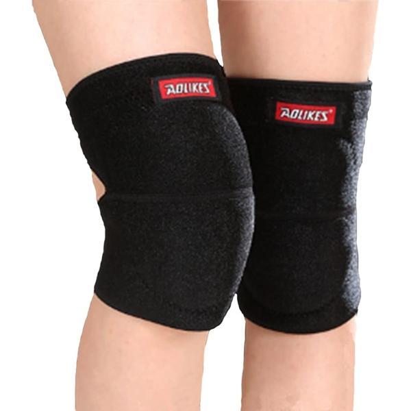 膝当て ひざあて 膝パッド ニーパッド 膝プロテクター 作業用 ウェットスーツ素材で濡れても安心 スケボー L(ブラック, Large)