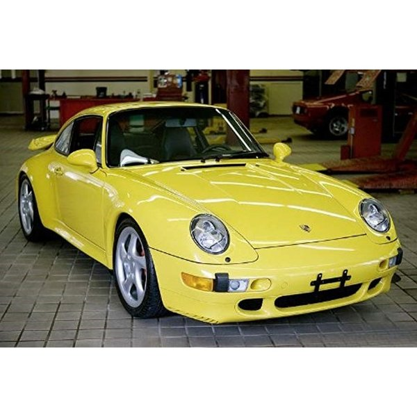 シュコー 1/43 ポルシェ 911 993 ターボ スピードイエロー 完成品1