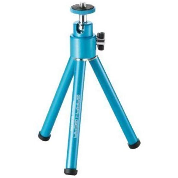 コンパクトカメラ三脚 2段伸縮 グラフギア[DGT-014BU](ブルー, 卓上)
