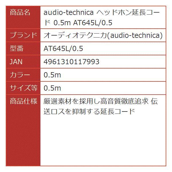 ヘッドホン延長コード[AT645L/0.5](0.5m, 0.5m)