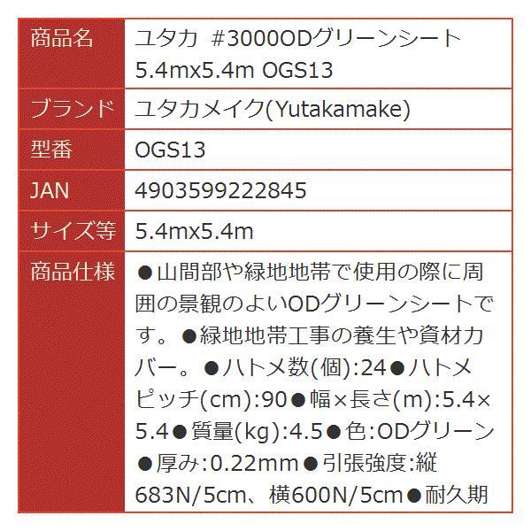 ユタカ #3000ODグリーンシート[OGS13](5.4mx5.4m)|horikku|02