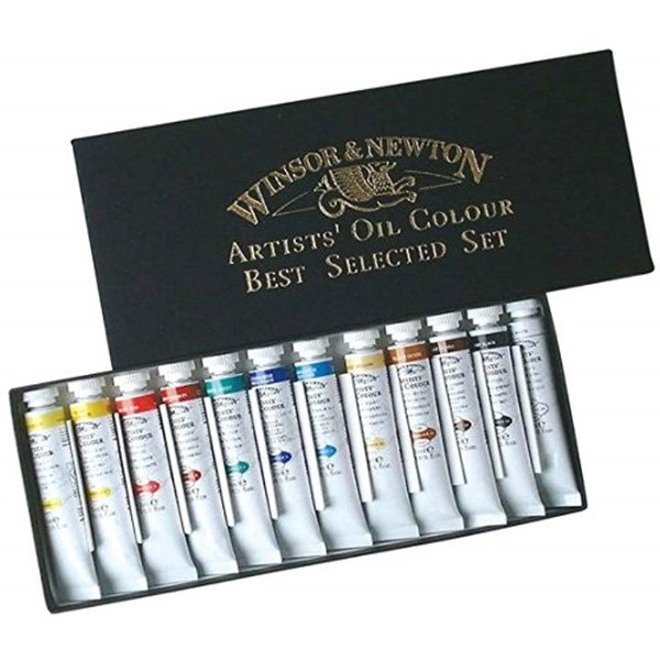 ウィンザー ニュートン 油絵具 アーチスト オイルカラー 優先配送 12色セット Aセット マルチ 21ml 信託