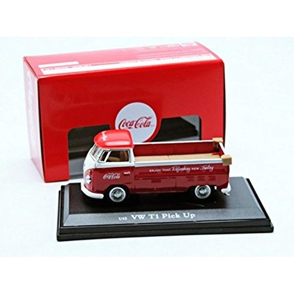 Coca-Cola Collectibles 1/43 VW ピックアップ 1962 レッド 完成品4
