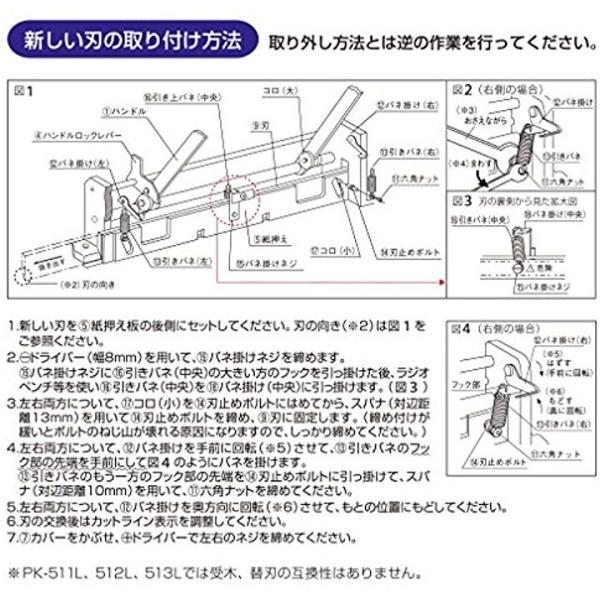 替刃 断裁機PK-513専用 PK-513H 26-1294