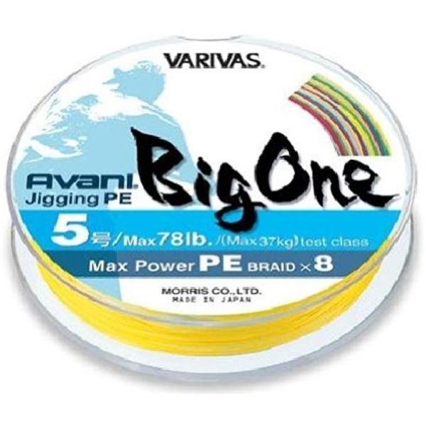 PEライン バリバス アバニ マックスパワー ジギング BIG ONE 300m 5号 78lb 10m×5色[マルチ]