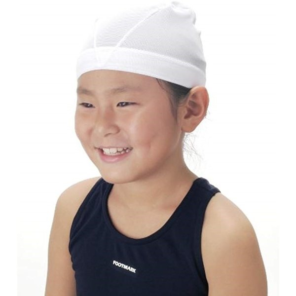 FOOTMARK(フットマーク) 水泳帽 スイミングキャップ ダッシュ 101121 ホワイト(01) M1