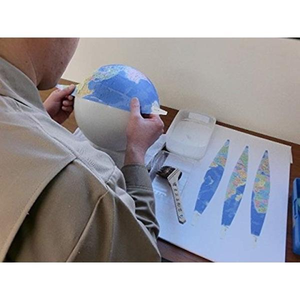 二球儀地球儀 球径26cm 26-GF-J 行政図タイプ 日本地図付3