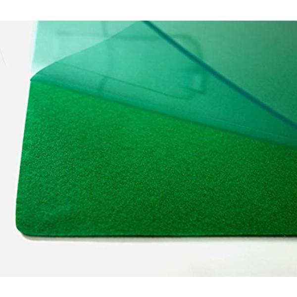 デスクマット 軟質 塩化ビニル 非転写 下敷き付 1187×687 マ-427G3