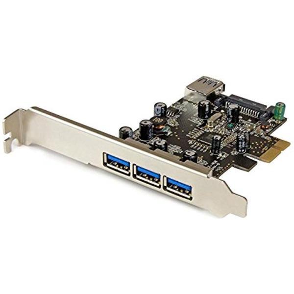 スターテック.com USB 交換無料 3.0 x4増設PCIeカード 購買 x1搭載 内部ポート PEXUSB3S42