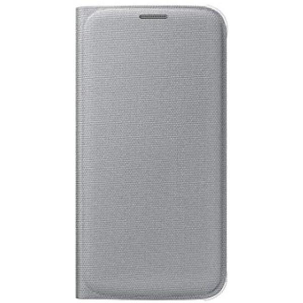 Galaxy S6用 Flip ※ラッピング ※ Wallet 返品交換不可 ファブリック素材 シルバー EF-WG920BSEGJP