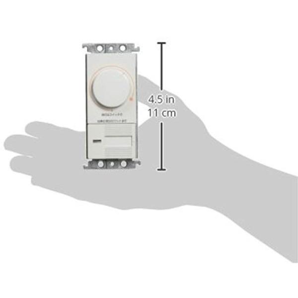 コスモシリーズワイド21 埋込調光スイッチC 片切・3路両用 下限照度設定機能付 ホワイト WTC575251W2