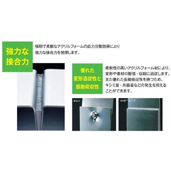 VHB 構造用接合テープ 低温・耐可塑剤用 Y-4551 25mm幅x10M CM-253