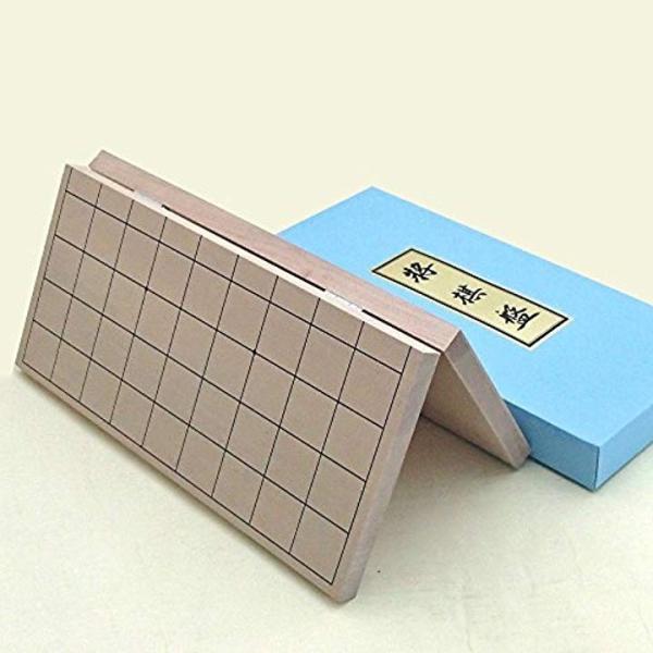 将棋セット 新桂6号折将棋盤と新槙彫り駒のセット1