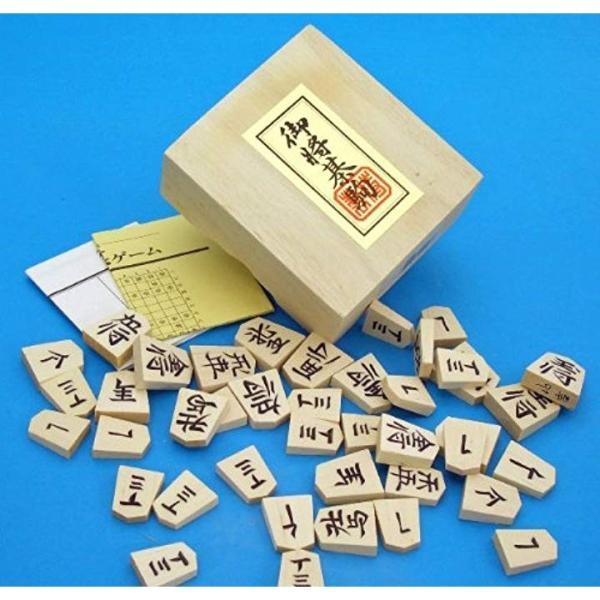 将棋セット 新桂6号折将棋盤と新槙彫り駒のセット3