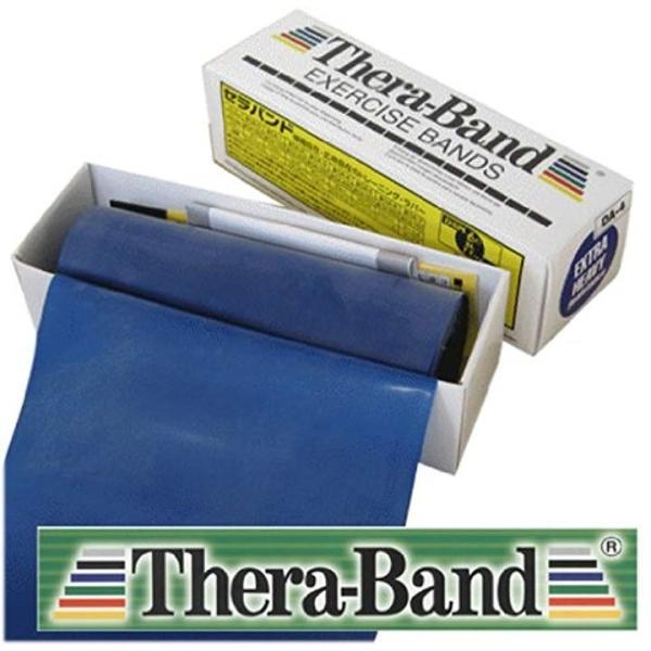 Thera Band セラバンド6ヤード 永遠の定番モデル ブルーカラー TB-4 返品交換不可 12.5cm×5.4m