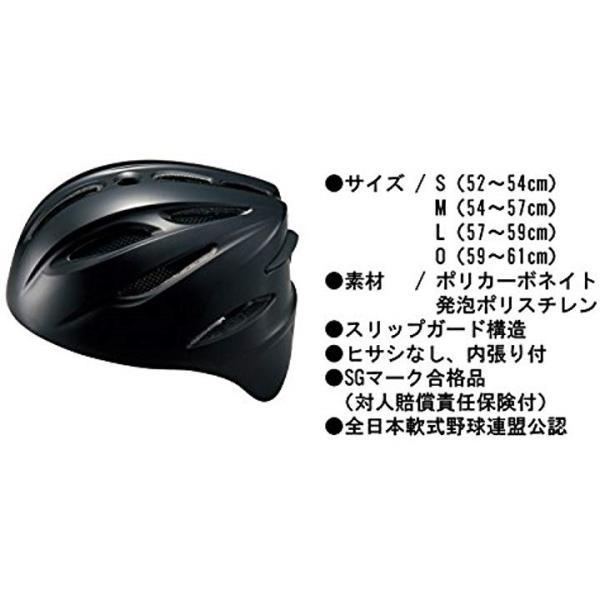野球 軟式 キャッチャー用 ヘルメット BHL40R ブラック M1