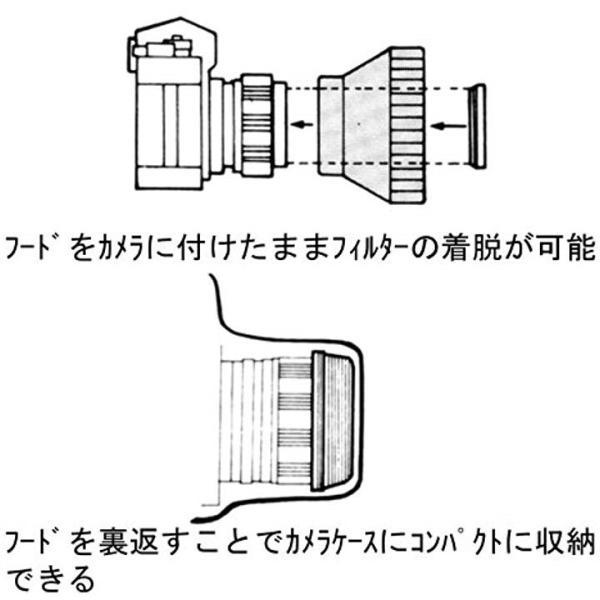 UN フード ラバーレンズフード ブラック[UN-5148](48mm)