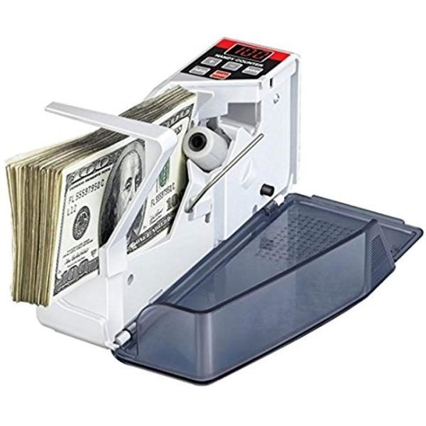 マネーカウンター ハンディタイプ 紙幣計数機 激安価格と即納で通信販売 OUTLET SALE 白コンパクト VLN-BC002 持ち運び可能
