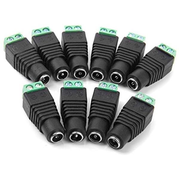 ノーブランド品DCジャック アダプター 変換アダプタ CCTV用 10つセット フィーメール[STK0114010807]