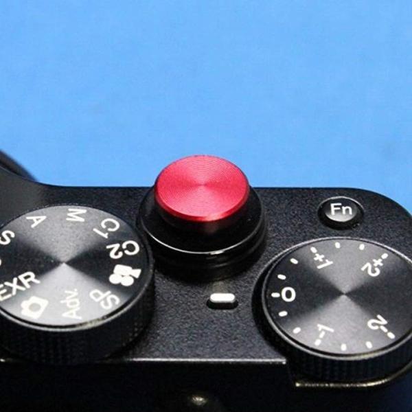 ソフトレリーズシャッターボタン フラットタイプ 『各社カメラ対応』[R-305](レッド)