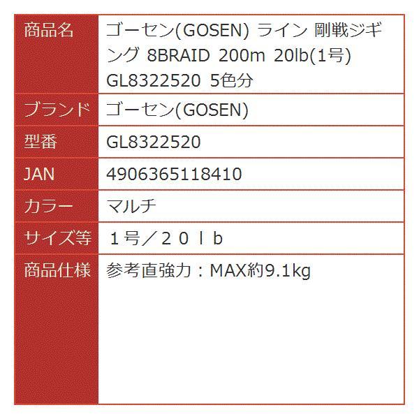 ライン 剛戦ジギング 8BRAID 200m 20lb 1号 5色分[マルチ][1号/20lb][GL8322520]