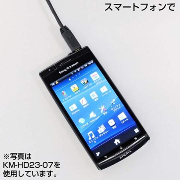 イーサネット対応HDMIマイクロケーブル[KM-HD23-30](ブラック, 3.0m)