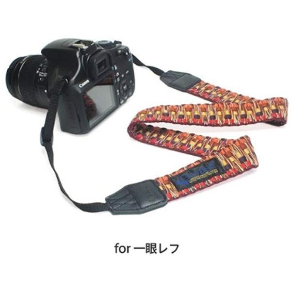 Swimming Fly & Gevaert ネックストラップ カメラストラップ 一眼レフ用 ビビットシャギー[SFN-005](レッド)