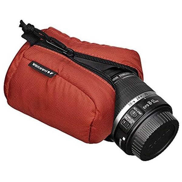 HAKUBA 交換レンズ用 ソフトレンズポーチ タテ開きタイプ[オレンジ][90-100][KLP-SF9010OR]
