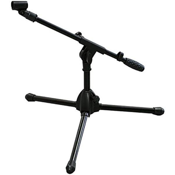 ショートブームマイクスタンド ストレートスタンド兼用 マイクホルダー キャリングバッグ付[ブラック][MS-206B]
