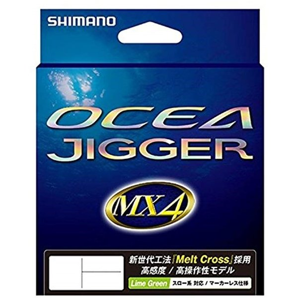 PEライン オシア ジガー MX4 600m 1.2号 ライムグリーン[黄緑][1.2号][PL-O94P]